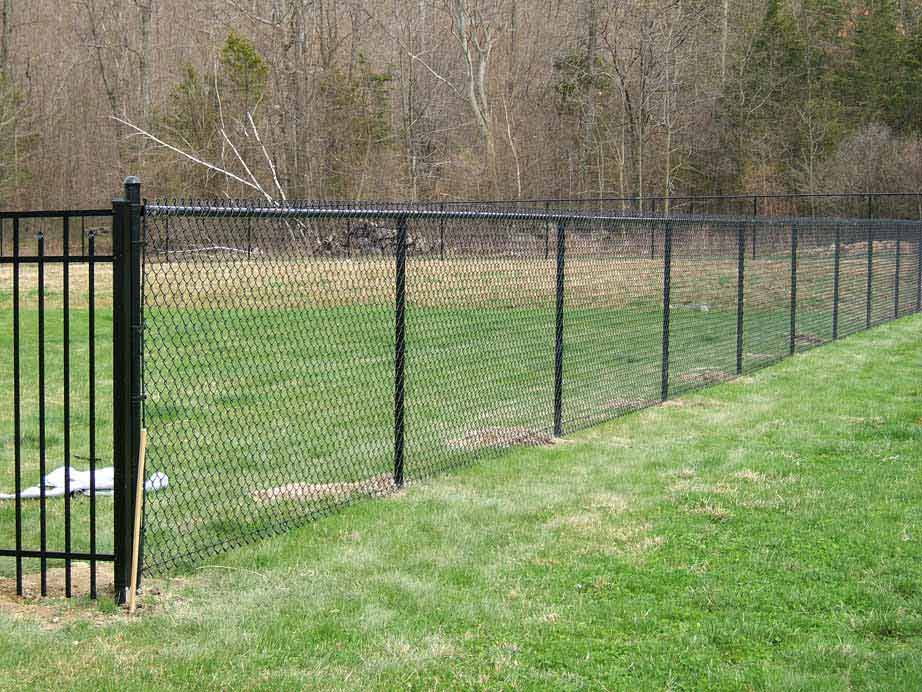 5' Black Vinyl Coated Chain-link