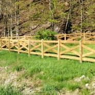 X Pattern Horse Fence