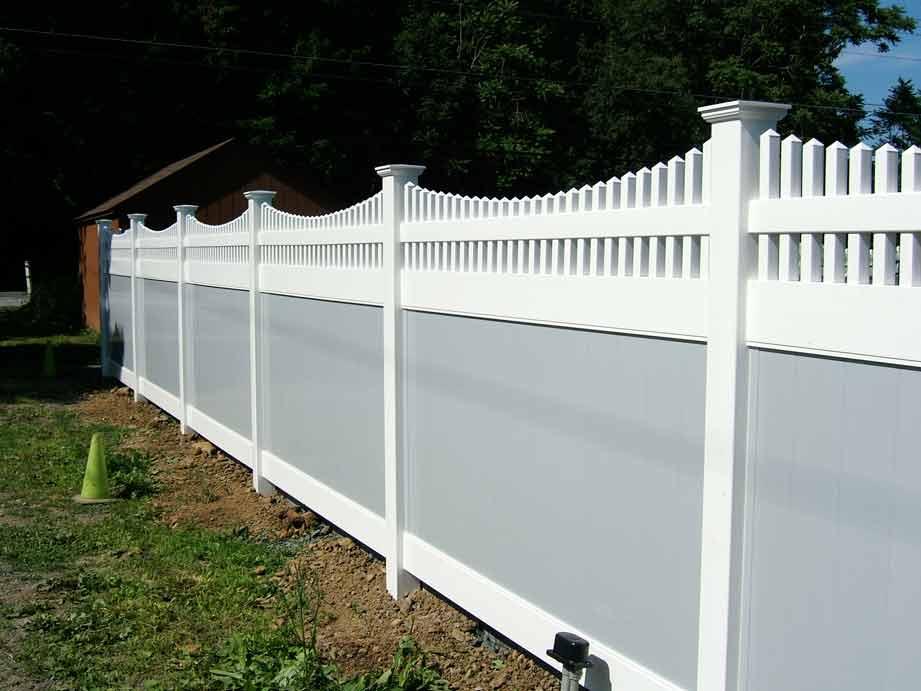 Country Estate Montauk Scallop - 2 Tone Gray and White