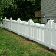 Landmark Vinyl Classic Stepped Picket