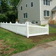 Landmark Vinyl Classic Stepped Picket in White