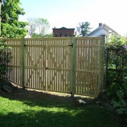8' Custom Cedar Semi Privacy with 8' Double Gate