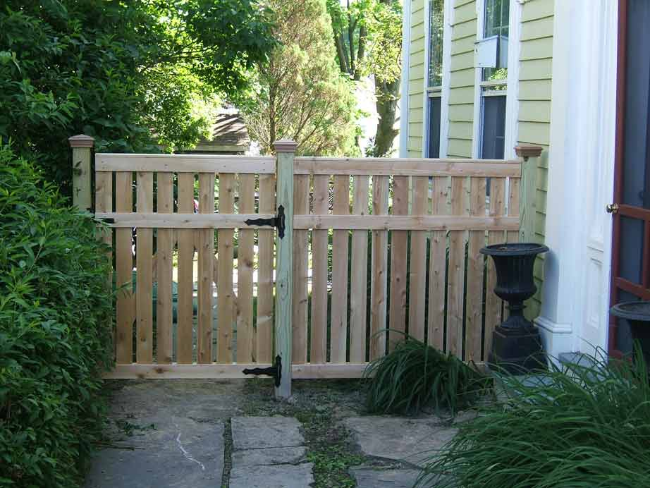 4' Custom Cedar Semi Privacy with Gate
