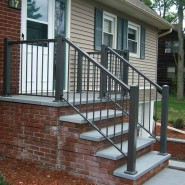 Aluminum Solution Railing in Bronze