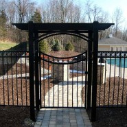 Vanguard Pergola with Scalloped Gate