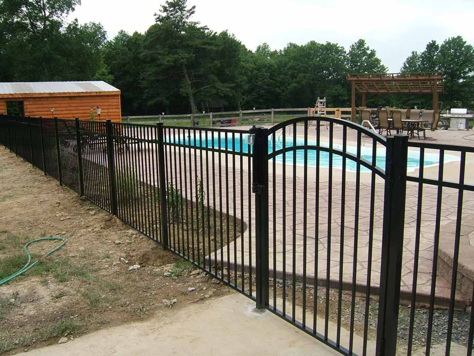 Vanguard E-2 Pool Fence with Arch Gate