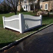 Custom Picket Sweep Section With Fluted Post