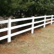 Vinyl 3 Rail Horse Fence