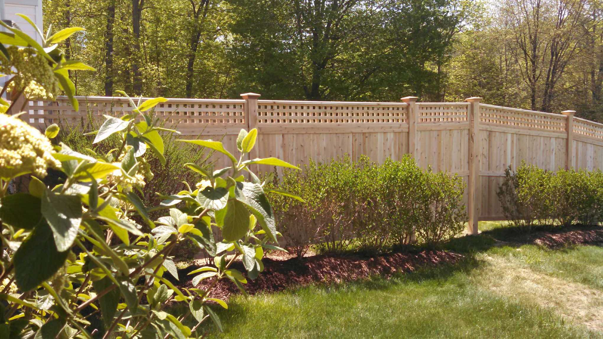 Berkshire With Square Lattice | Kuperus Custom Fence
