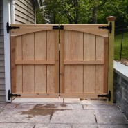 Custom Gate (designed to match shed door) – Before and After