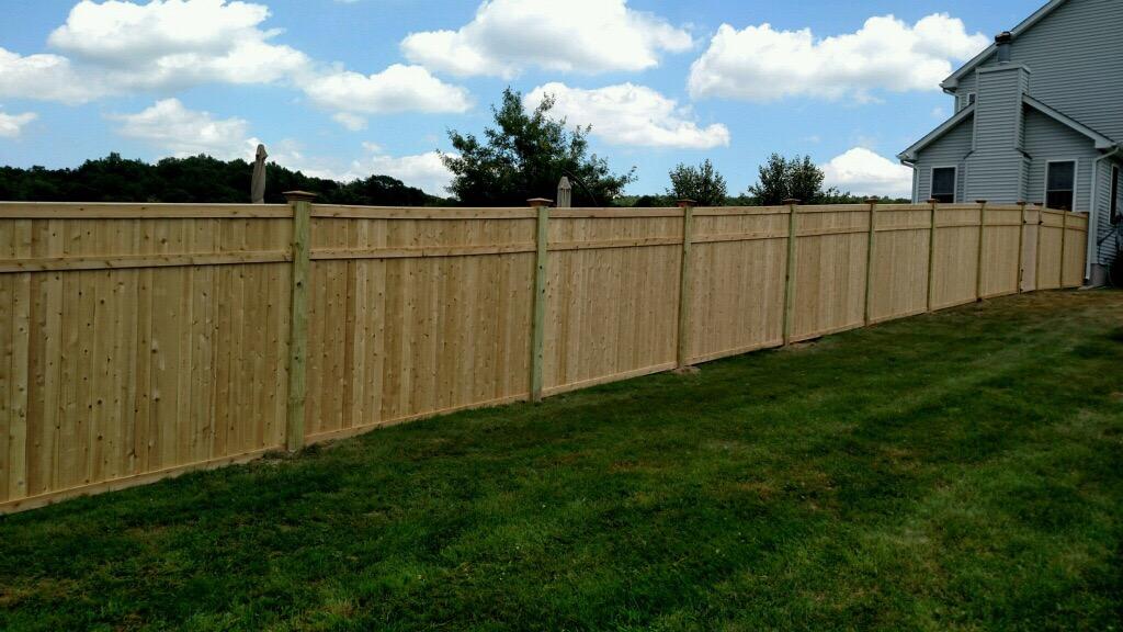 Before & After – Custom Built Cedar Privacy Fence