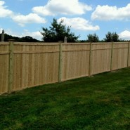 Before & After – Custom Built Cedar Privacy Fence