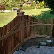 Custom Driveway Gate with Curved Sections