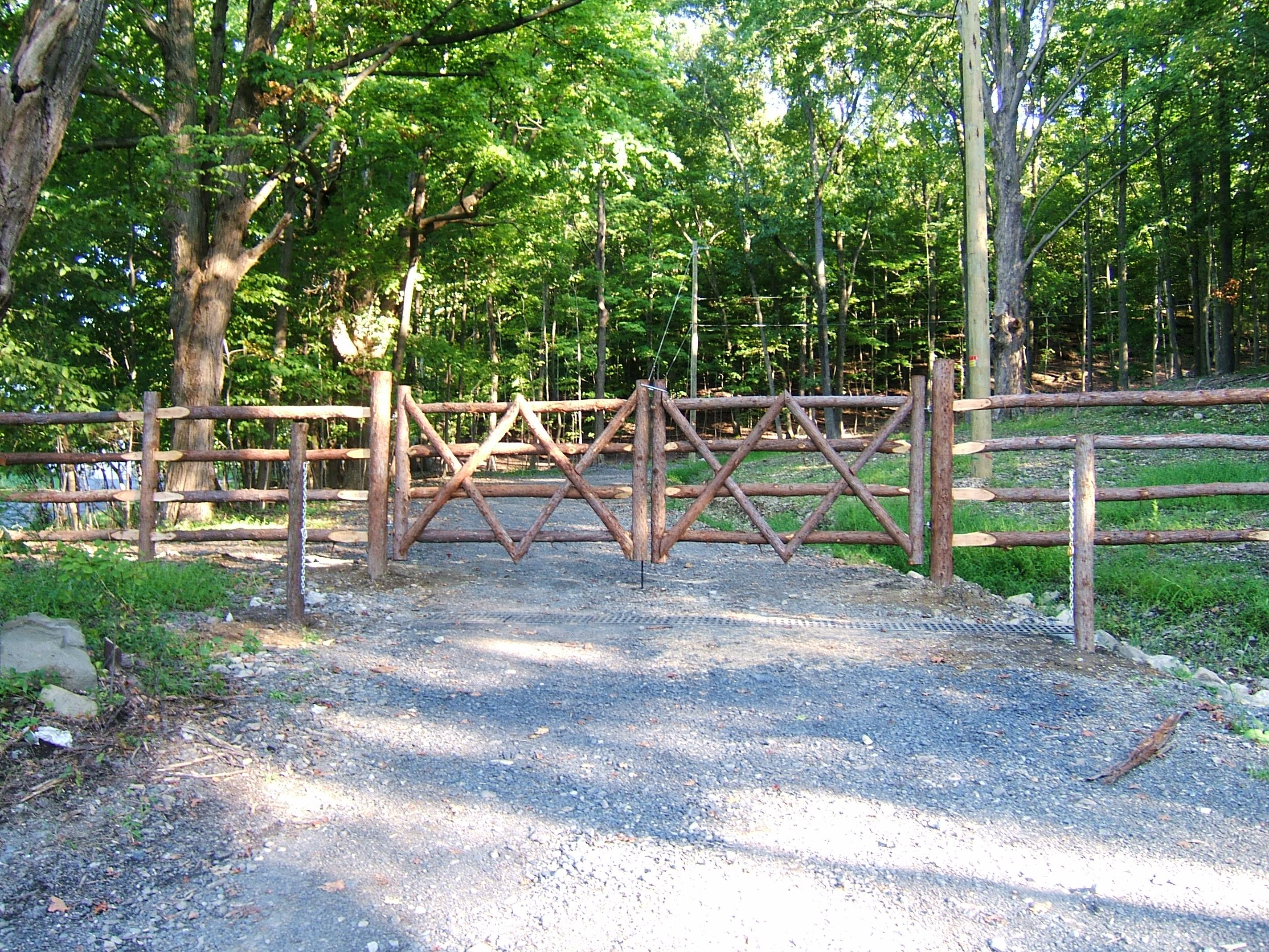Cedar Bark with Gate